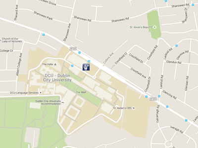 Image: parkbytext location in DCU